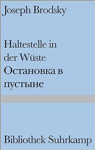 Haltestelle In Der Wüste Gedichte Russisch Und Deutsch