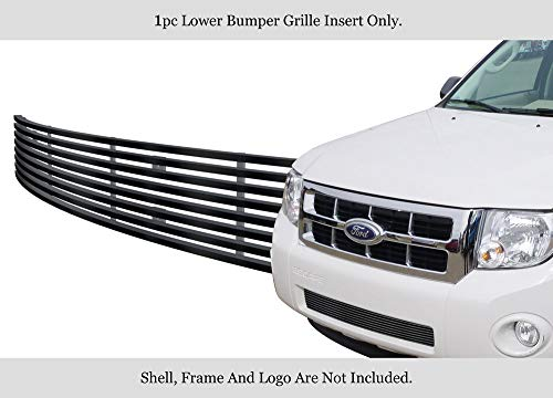 APS Compatible with 2008-2012 Ford Escape Stainless Steel Black Billet Grille Grill Insert F65784J