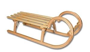 Ress Gebirgsrodel Hörnerrodel Lattensitz, 115cm, 801152, natur lackiert
