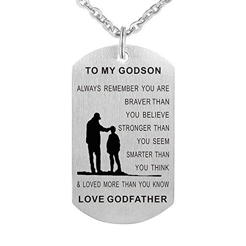 - Kisseason Godchild Gift Jewelry Keychain Pendant Necklace Perfect Birthday Christening Baptism Gift for Godson from Godfather Godparents