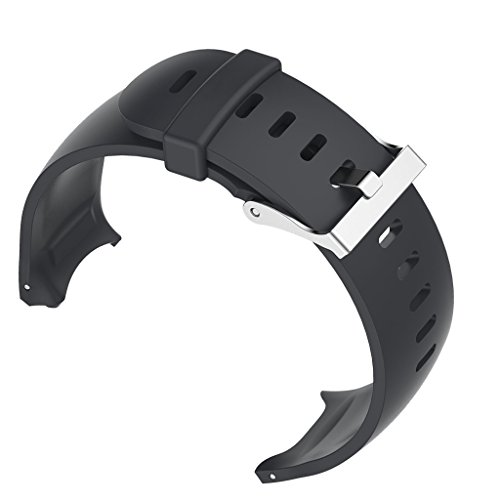 Baoblaze Soft Silicone Smart Wear Wrist Band Strap with Buckle Replacement for Garmin Approach S3 Smart Watch - Black ()