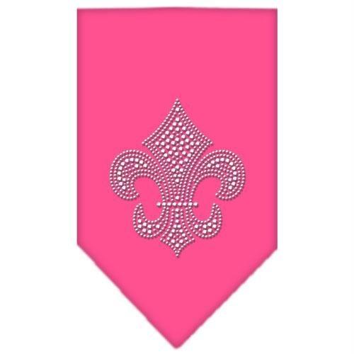 Mirage Pet Products Fleur De Lis Rhinestone Bandana, Small, Bright Pink