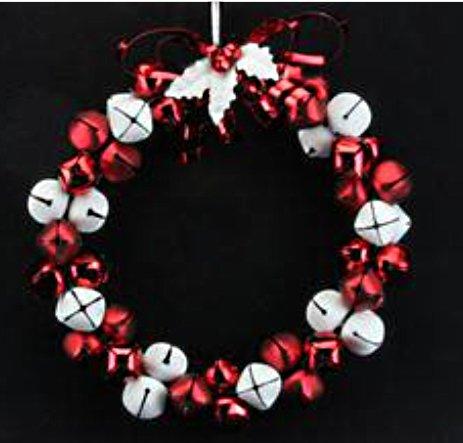 Jingle Bell Wreath Ornament - 8