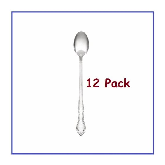 ChefLand Ice Tea Spoons Sunflower Flatware with Bright Finish, 1-Dozen 1 Price Includes 12 Ice Tea Spoons Crafted From The Finest 18/0 Stainless Steel With Shiny Finish! Modern, High Styled Flatware Elevates Everyday Meals into a Fine Dining Experience