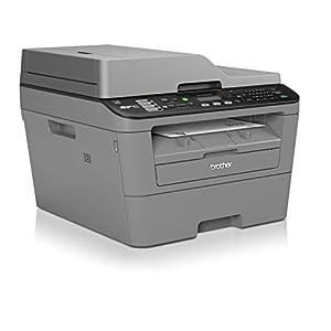 Brother MFC-L2700DW - Impresora multifunción láser monocromo compacto (WiFi, fax, impresión automática a doble cara), color gris