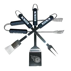 NFL Tennessee Titans 4-Piece Barbecue Set Color: Titans Outdoor, Home, Garden, Supply, Maintenance