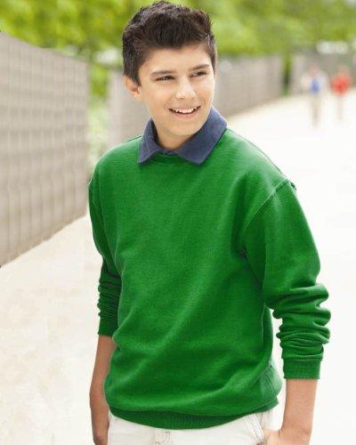 Jerzees 50/50 Youth Crewneck Sweatshirt, L, Forest Green 50 Youth Crewneck Sweatshirt