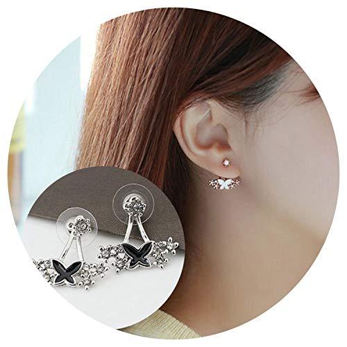 Korean Daisy Flower Ear Ornaments Pearl Horse Eye Leaf Snowflake Stud Earrings Wholesale Booth New Produc