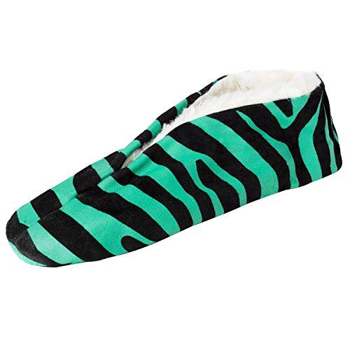 Brubaker - Pantuflas de cuero unisex verde / negro