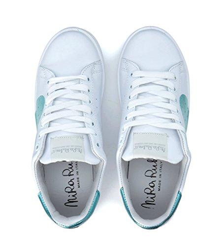 Bianca In Daiquiri Azzurro Bianco Pelle Rubens Nira E Cuore Sneaker Acquamarina C7wOOq