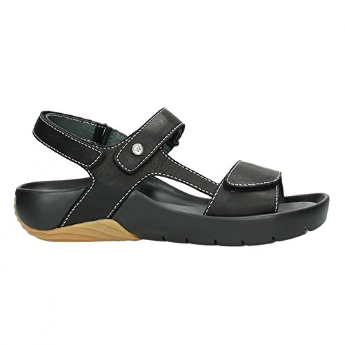 Wolky 1126 Bullet Black Womens Sandals Black