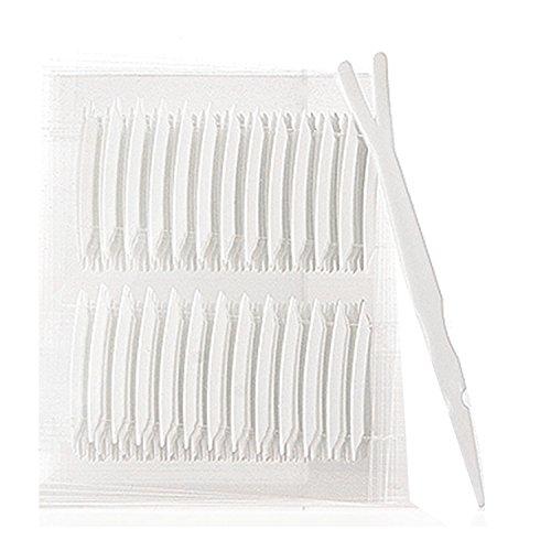 Vococal® 20 Blatt Unsichtbare Atmungsaktiv Stretch Faser Schmale Augenlidklebeband mit Gabel