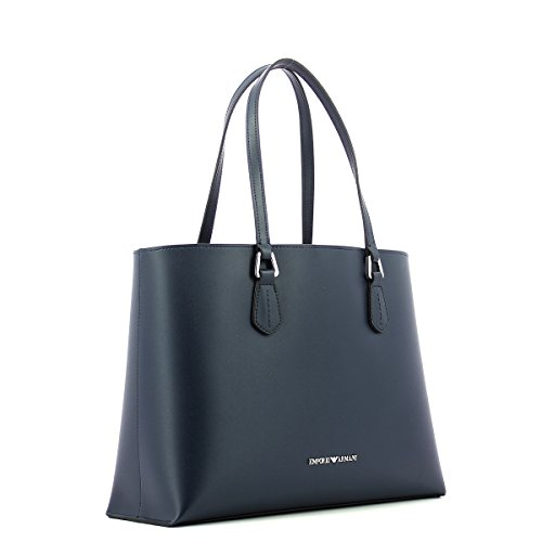EMPORIO ARMANI SMOOTH SHOPPING BAG Y3D085YH19E Navy Leather