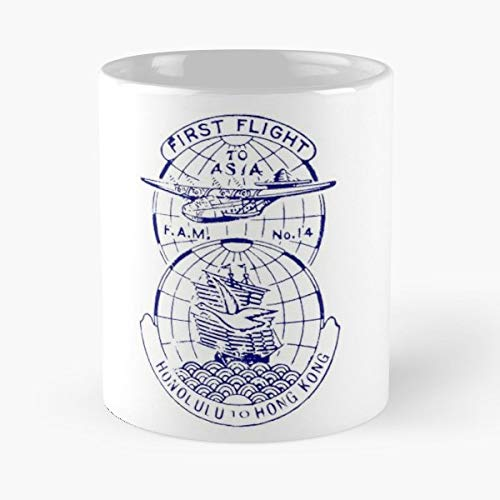 Airmail Postal History Collector Stamp - Coffee Mugs Unique Ceramic Novelty Cup Best Gift