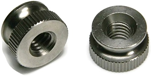 11//16 Dia x 13//32 THK - Qty-500 Knurled Head Thumb Nut 18-8 Stainless Steel Nuts USA Made 5//16-18