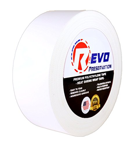 revo-preservation-tape-heat-shrink-wrap-tape-2-x-60-yards-made-in-usa-white-poly-tape-electrical-tap