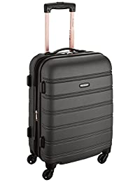Rockland F145 Melbourne Expandable Abs Carry On Luggage, Black, One Size, 20-Inch