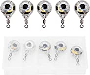 Lure Light,Lure Lamp,5 pcs LED Underwater Fishing Light Eye Shaped Night Lamp Lure Attractor Lure Bait Tool
