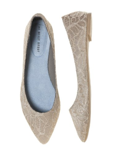Womens Lace Bruids Ballet Plat Door Dessy Gold