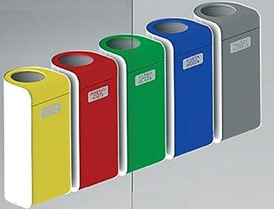 Cubo de Reciclaje en Metal Lacado de Color