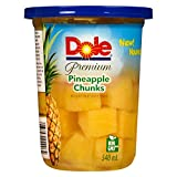 Dole Pineapple Chunks in Light Fruit Juice Syrup, 540 milliliters
