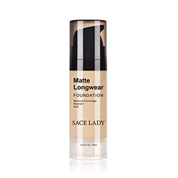 likeitwell SACE LADY Foundation Base Maquillaje Profesional Cara Mate Acabado Líquido Impermeable Cosmética natural, suave y no irritante: Amazon.es: ...