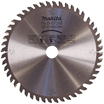 Makita B 07353 165mm X 20mm Carbide Tipped Blade Circular Saw