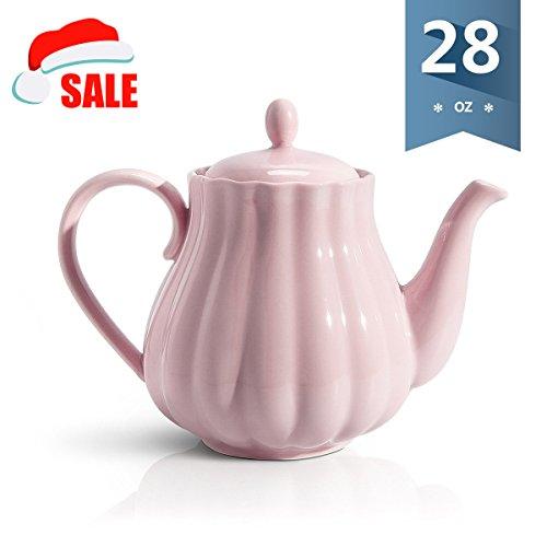 Sweese 2302 Teapot Pumpkin Fluted Shape, Pink - 28 (Pink Pumpkin)