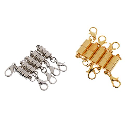 Jili Online Pack of 10pcs Jewelry Clasps Magnetic Findings Hooks DIY Fastener Connectors 35x6mm - #2, As described