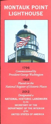 MONTAUK POINT LIGHTHOUSE LONG ISLAND 2014 /ILLUSTRATED FOLDOUT BROCHURE AND MAP