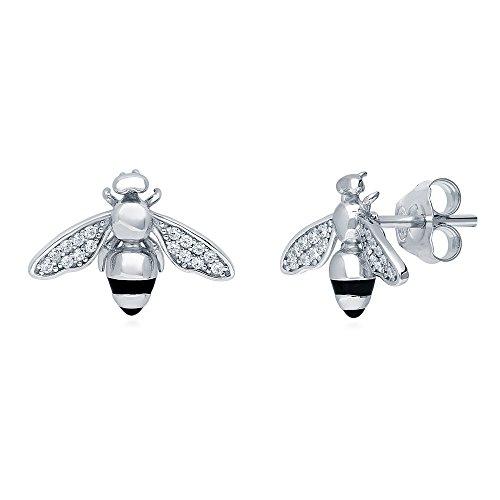 ted Sterling Silver Bee Fashion Stud Earrings Set w/Swarovski Zirconia ()