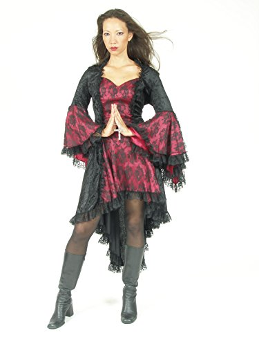 Eternal Love Plus Size Black Burgundy Wine Gothic Gwendolyn Dress Taffeta Lace (2X) by Eternal Love (Image #1)