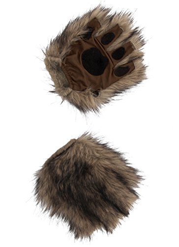 elope Squirrel Brown Fingerless Costume Paws ()