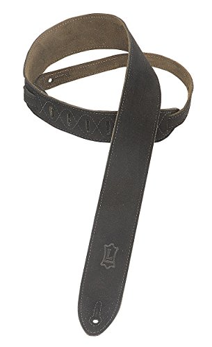 Levy's Leathers MS12-BLK 2-inch Suede-Leather Strap, Black