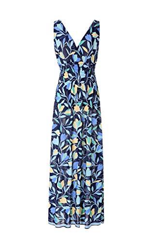 (Maxi Dresses Women Summer V Neck Light See Through Casual Floral Long Beach Dress Flowerblue)