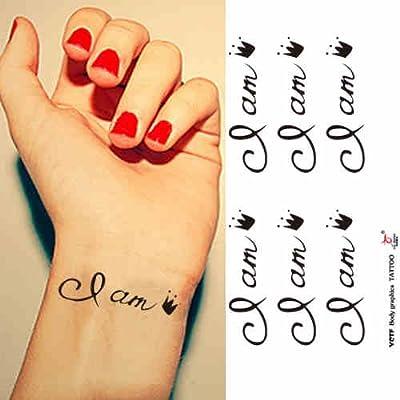 Zokey impermeable tatuaje temporal yo soy la reina en inglés WS111 ...