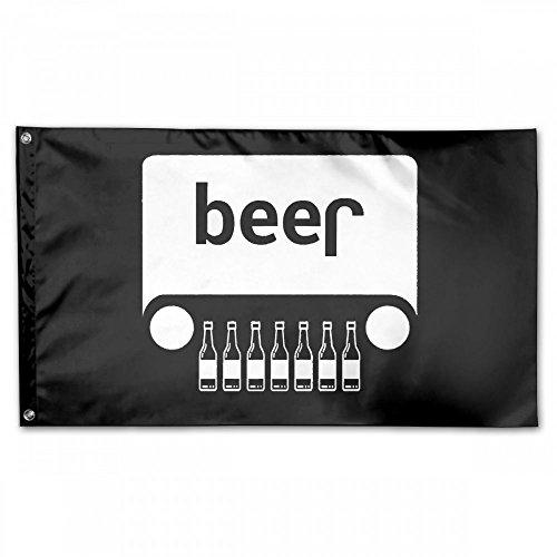 Beer Jeep Funny DrinkingHouse Flag Garden Flag Yard Banner Garden Flag 3 X 5