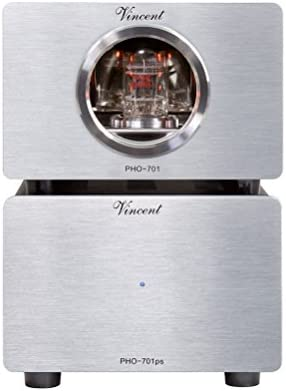 Vincent PHO 701 Phono Preamplifier MM MC w Outboard Power Supply Silver