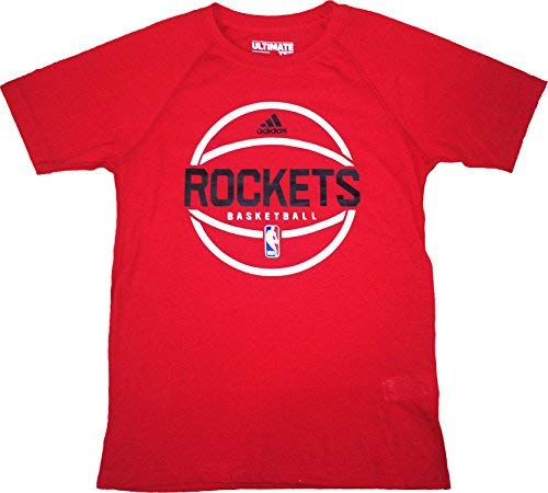 Houston Rockets Red Ultimate Short Sleeve Performance Tee Youth (Youth Small) Adidas Houston Rockets Short Sleeve T-shirt