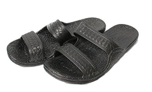 Kali Footwear Women's Jesus Hawaii Open Toe Double Strap Hawaiian Sandals Simple(Black,10) -