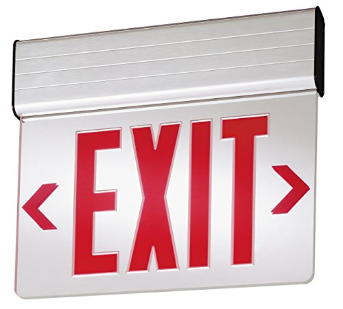 Lithonia Lighting 1 R M6 Red Stencil Edge-Lit LED AC-Only Exit Sign, ()
