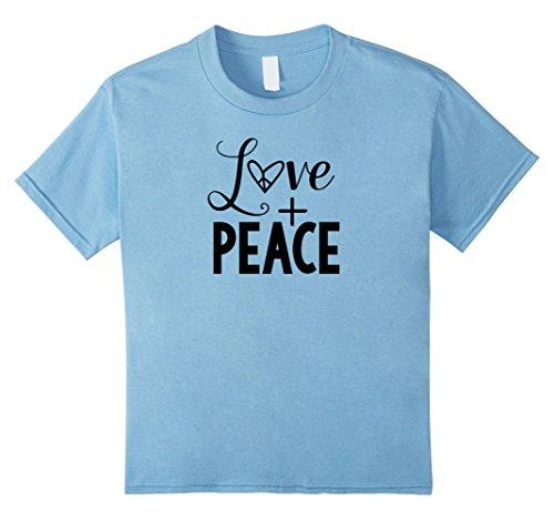 Kids Love Plus Peace T-shirt Color Set 03 6 Baby Blue