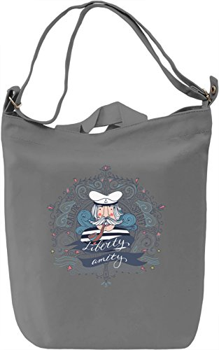 Sailor Borsa Giornaliera Canvas Canvas Day Bag| 100% Premium Cotton Canvas| DTG Printing|