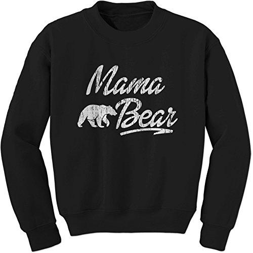Crew Mama Bear Adult Medium Black (Christmas Bear Care Jumper)