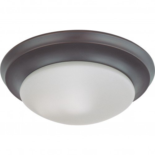 (Satco 62-787 18W LED 12 in Dimmable Mahogany Bronze Ceiling Flush Mount Fixture)