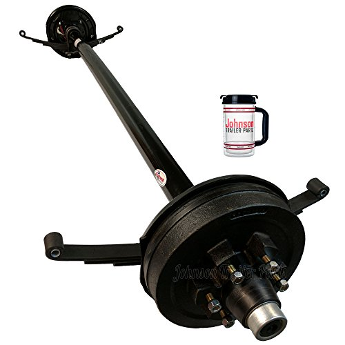 5,200 lb Electric Trailer Brake Axle with Double Eye Springs and U-Bolts ( 89
