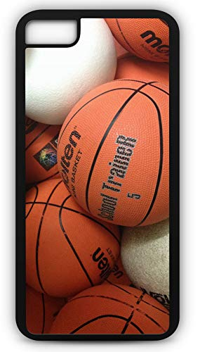 Hoop Rugby - iPhone 7 Case Basketball Practice Hoops Sporting Practice Warm Up Customizable by TYD Designs in Black Plastic Black Rubber Tough Case