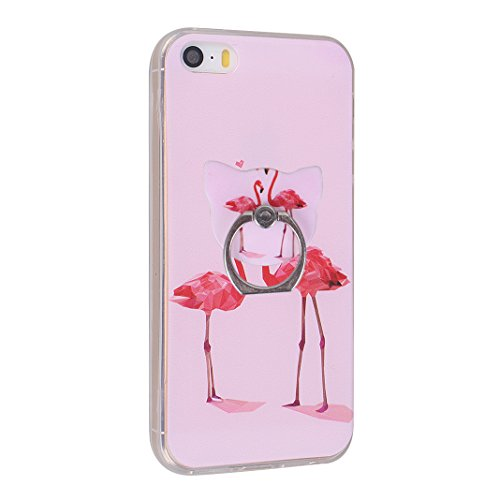 Fundas iPhone SE, Funda Silicona iPhone 5S, Fundas iPhone 5, Moon mood® Cubierta Suave Funda Case de Silicona TPU para Apple iPhone 5/5S/SE 4.0 pulgada Slim Caso Trasero Resistente a las Rayaduras Pin Bird