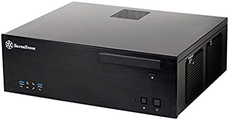 SilverStone SST-GD04B USB 3.0 - Grandia HTPC Micro ATX Carcasa de Ordenador, Rendimiento silencioso con Alto Flujo de Aire, Negro: Amazon.es: Informática