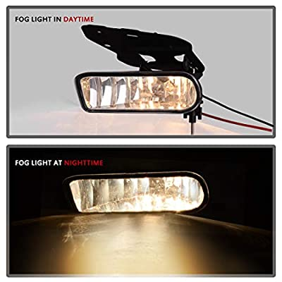 Fog Lights Compatible with 02-06 Cadillac Escalade 02-06 Cadillac Escalade EXT 03-06 Cadillac Escalade ESV Driving Bumper Lamps Kit (OE Clear Lens): Automotive